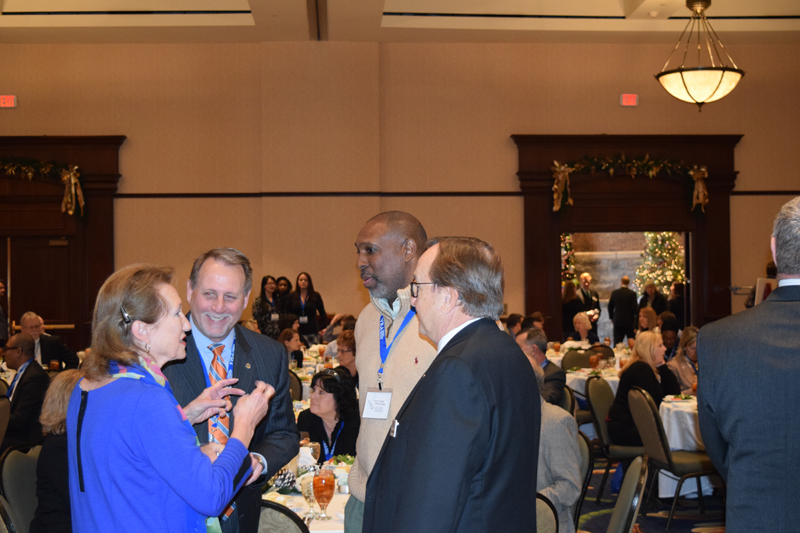 Clockwise from L to R: Mary Katherine Greenlaw, Mayor of Fredericksburg, Ron Tillett, Managing Director at Raymond James, William Johnson, City Manager of Petersburg, and VRA Chairman Bill O'Brien