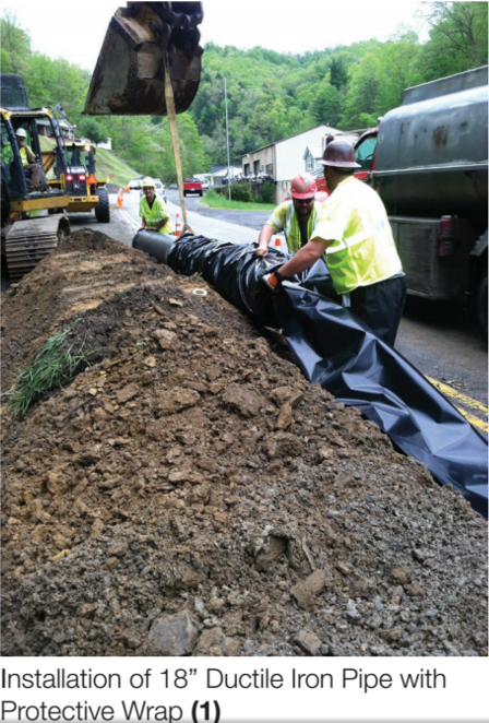 "Installation of 18"" Ductile Iron Pipe with Protective Wrap (1)"