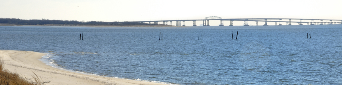 View of Chesapeake Bay Bridge Tunnel from Fisherman's Island