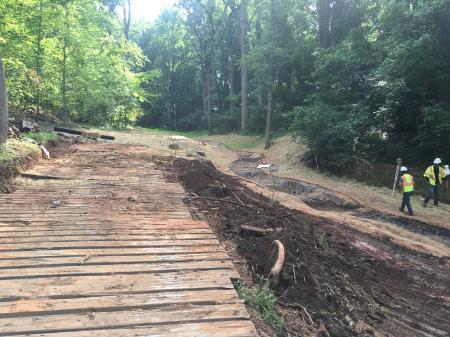 Blackwater Creek Tributary Stream Restoration project in process