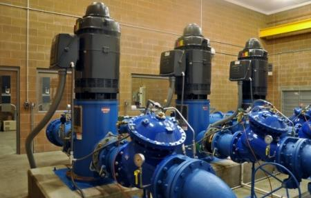 250 HP Pumps within Pump Station